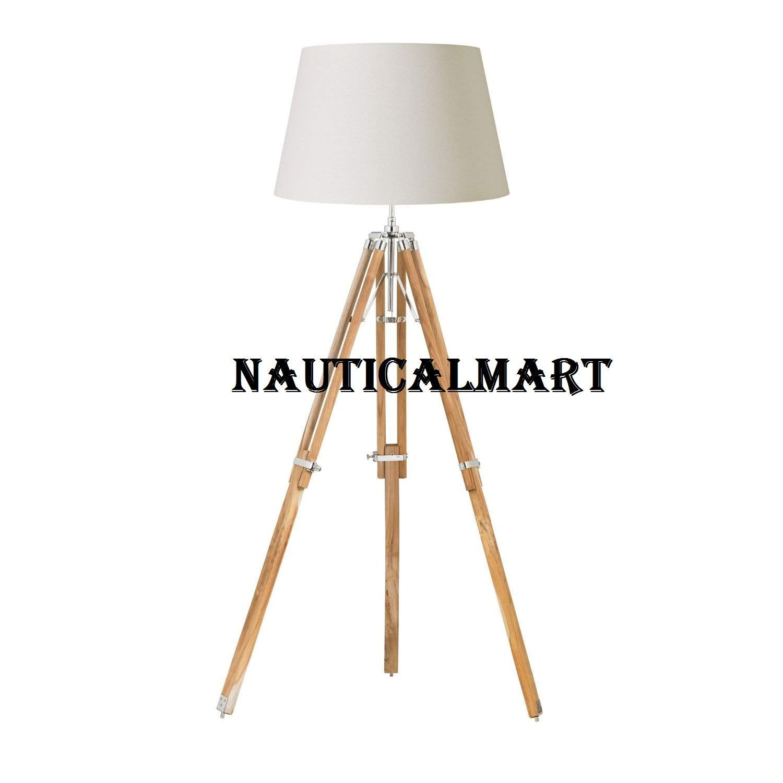 NATURAL WOOD FLOOR LAMP BASE - Home Decor By Nauticalmart
