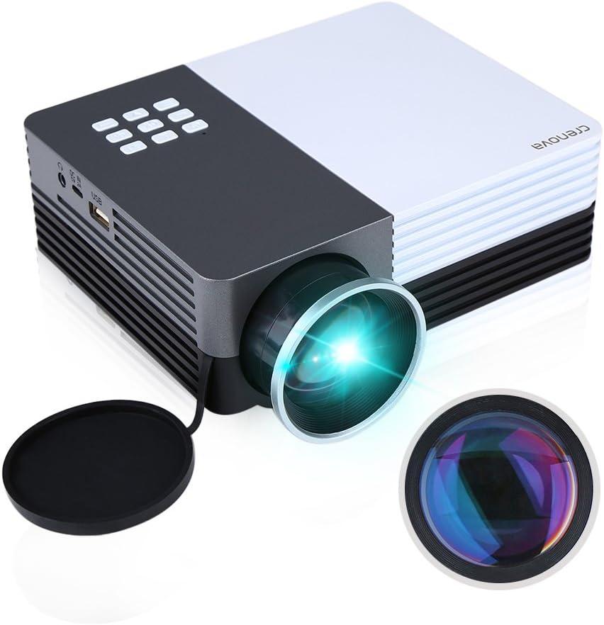 Crenova XPE350 - Mini Proyector Portátil resolución 480*320 150 ...