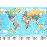 World Map 2011 Collections Giant Poster Print, 55x39