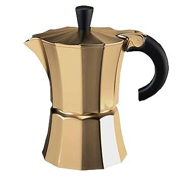 Gnali & Zani Morosina - Cafetera (aluminio) para 6 tazas dorado