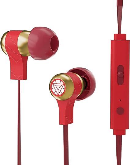 Tribe Marvel Auricolari I Cuffie In Ear Stereo con Microfono per Cellulare e comando multifunzione Iron man