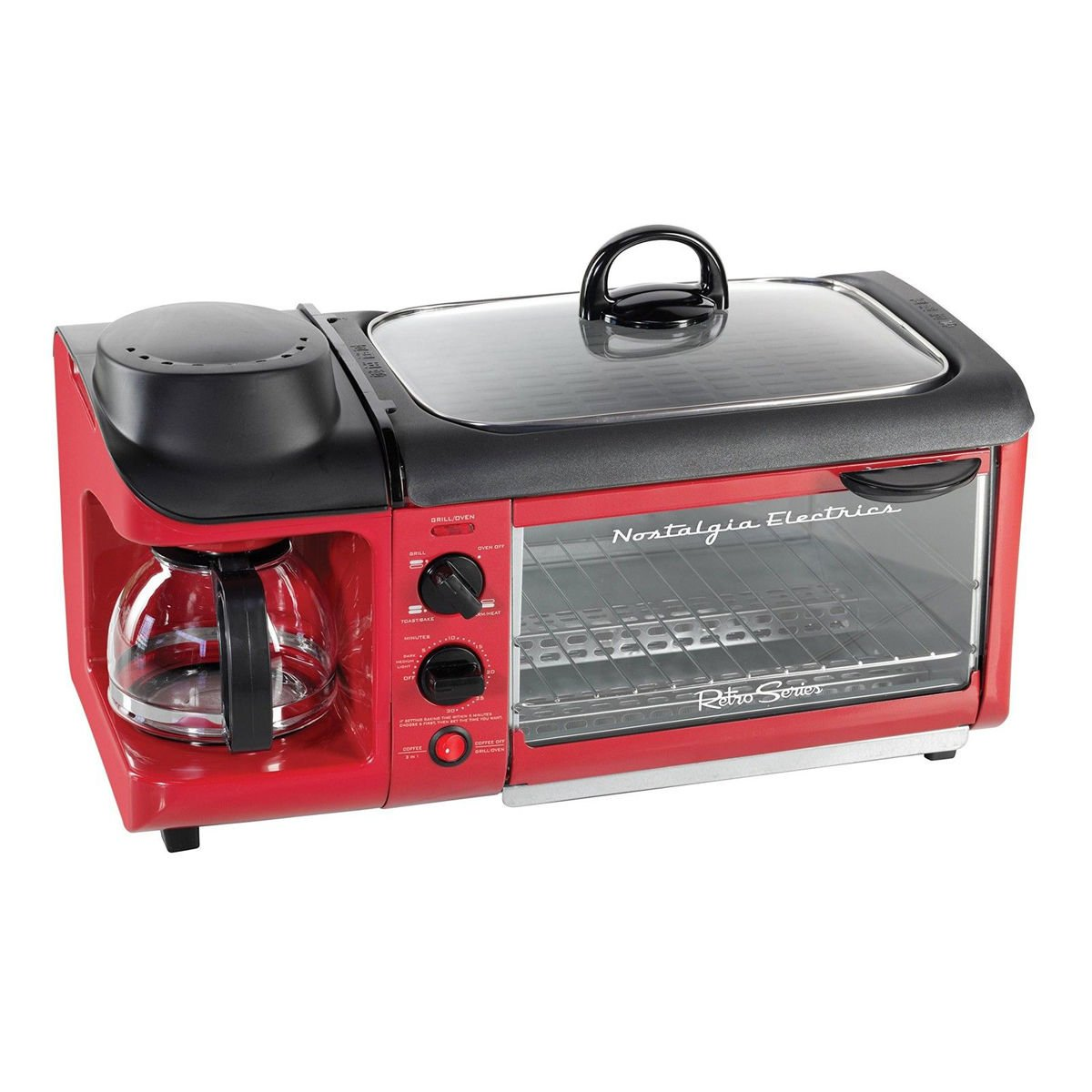 All-In-One Breakfast Maker - Red Englewood Marketing Group Inc. BSET300RETRORED
