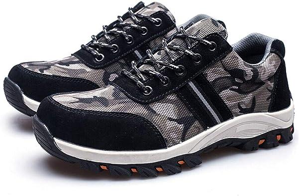 Farrom Hombre Indestructible a Prueba de Balas Seguridad Zapatos Militar Trabajo Ligero Zapatillas - Gris, 41 EU: Amazon.es: Zapatos y complementos