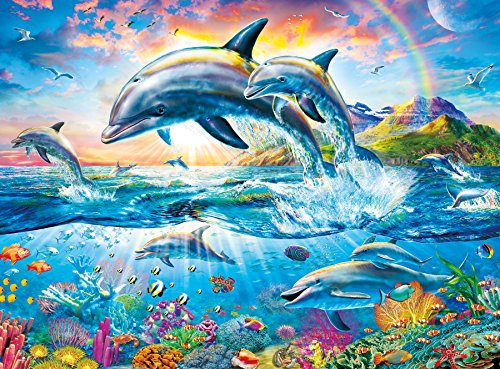 Buffalo Games - Vivid Collection - Dolphin Paradise - 1000 Piece Jigsaw Puzzle