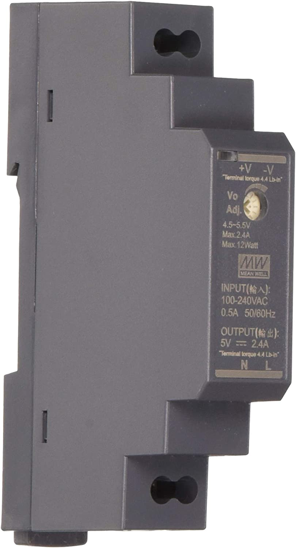 Din-Rail Fuente de alimentación 12W 5V 2,4A ; MeanWell HDR-15-5