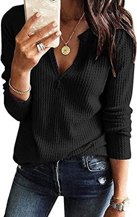 pull over shirt retro collar Woman henley top half sleeve white knit tee