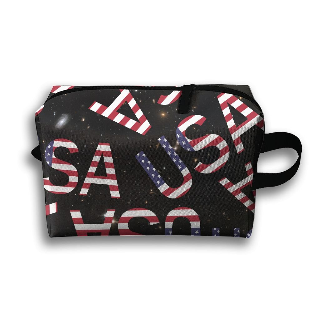 e7e15fe011d4 low-cost USA Flag Lover Storage Travel Bags Fashion Make Up Bags ...