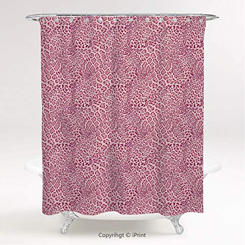 MyCCIC AM30685 Shower Curtain/Animal Print Decor,Animal Print Leopard Skin Pattern Girly Design Trendy Decorating Illustration, Polyester Fabric Bathroom Curtain Ideas (Bathroom Animal Print Ideas Decorating)