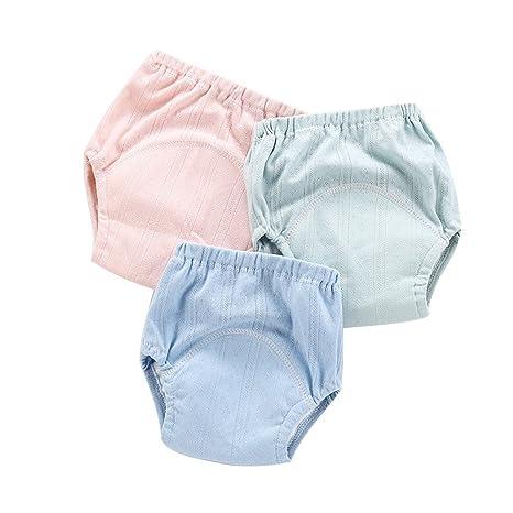 Pantalones de entrenamiento de algodón 100% Ropa interior resistente al agua Niñas Niños, Bebé