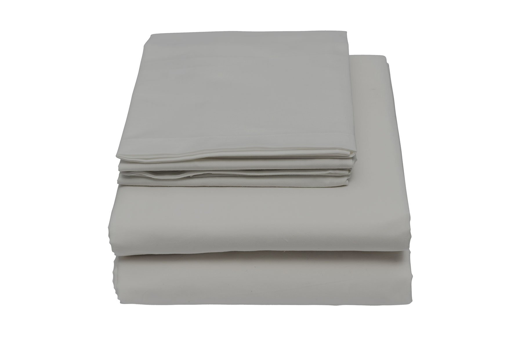600 Thread Count Sheet Set, 100% Cotton Sateen by Lushulux (Grey, Queen)