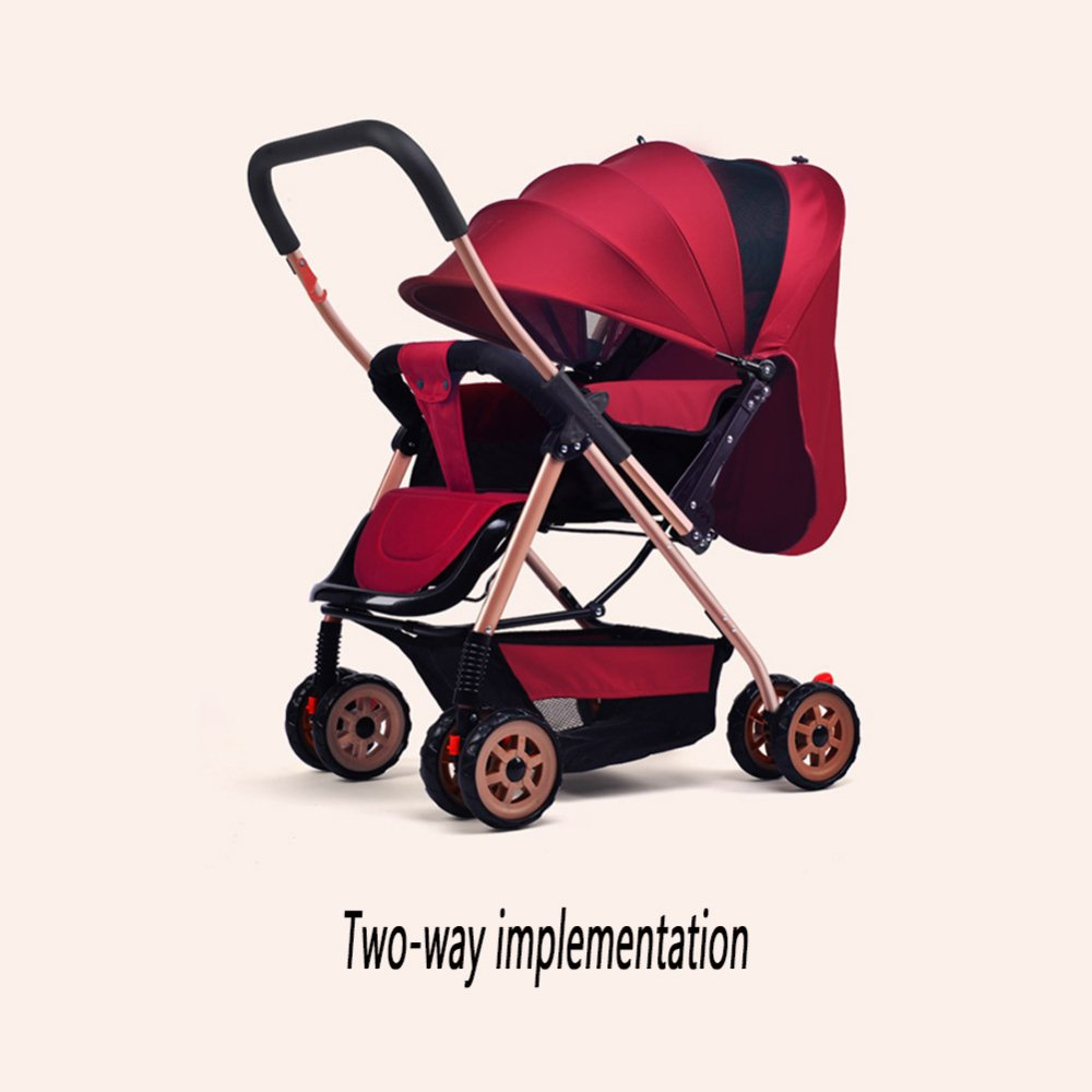 ZLYFA Sistema De Viaje Carrito para Bebés Plegable Puede Sentarse Y Acostarse Carro Amortiguador para Bebés Durante 1 Mes -5 Años De Edad Bebé,E: Amazon.es: ...