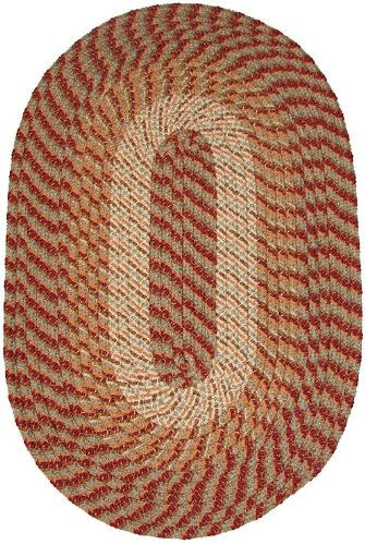 Plymouth 5' x 8' Oval Braided Rug in Sunset Copper ()