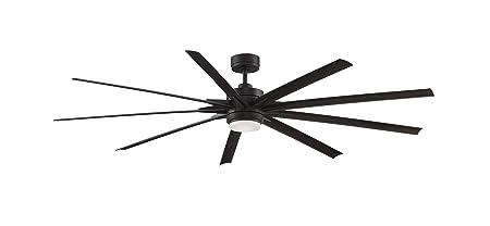 Fanimation FPD8159DZW Odyn Ceiling Fan with LED Light Kit, 84 , Dark Bronze