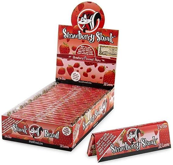 Skunk Blueberry Flavored Hemp Rolling Papers 6 Packs 32 Leaves 1 1//4 ea NEW