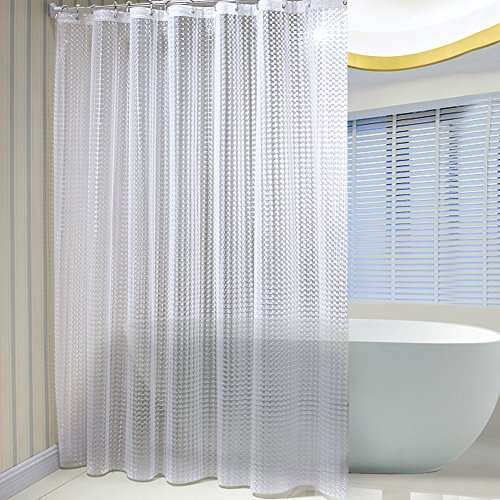 LIGHTENING DEAL! TOP RATED MILDEW RESISTANT 3D SHOWER CURTAIN NOW ONLY $15.99!
