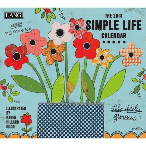 The Lang Simple Life Wall Calendar 2018