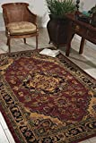 Nourison India House (IH02) Rust Rectangle Area Rug, 3-Feet 6-Inches by 5-Feet 6-Inches (3'6'' x 5'6'')