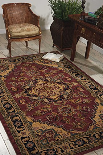 Nourison India House (IH02) Rust Rectangle Area Rug, 3-Feet 6-Inches by 5-Feet 6-Inches (3'6