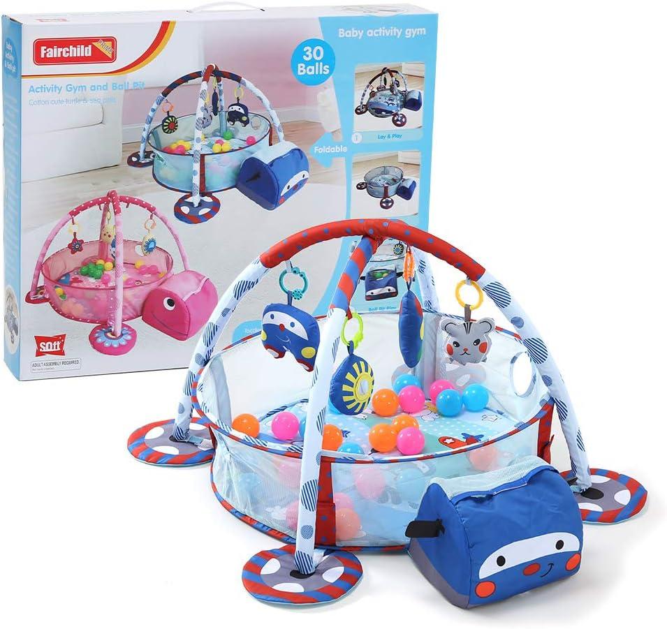 Gimnasio de Actividades 3 en 1 Baby Activity Gym Play Mat Azul Perfecto para beb/és Ni/ños peque/ños Ni/ño Ni/ñas Fnova Gimnasio Para Bebes