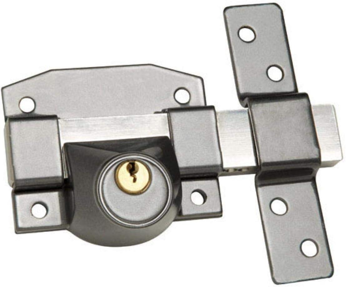 Wolfpack B-9 - Cerrojo para puertas, uso solo llave: Amazon.es: Bricolaje y herramientas
