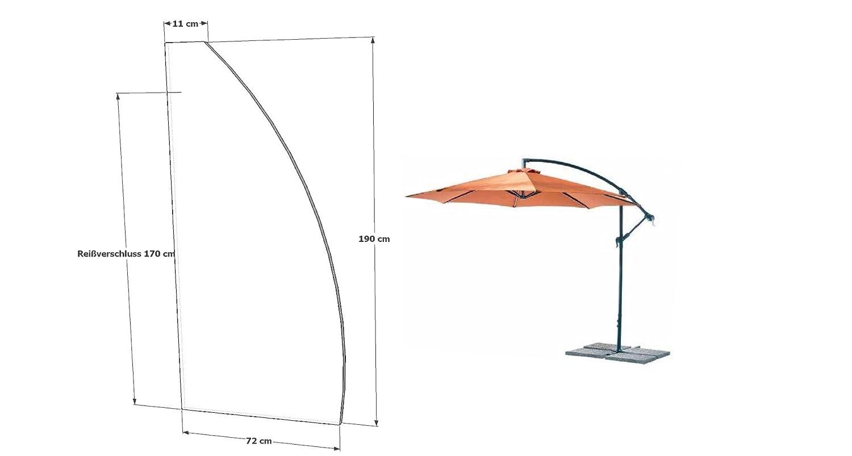 Sonnenschirm Schutzhülle Abdeckhaube Hülle für Gartenschirm Ampelschirm GZ1163