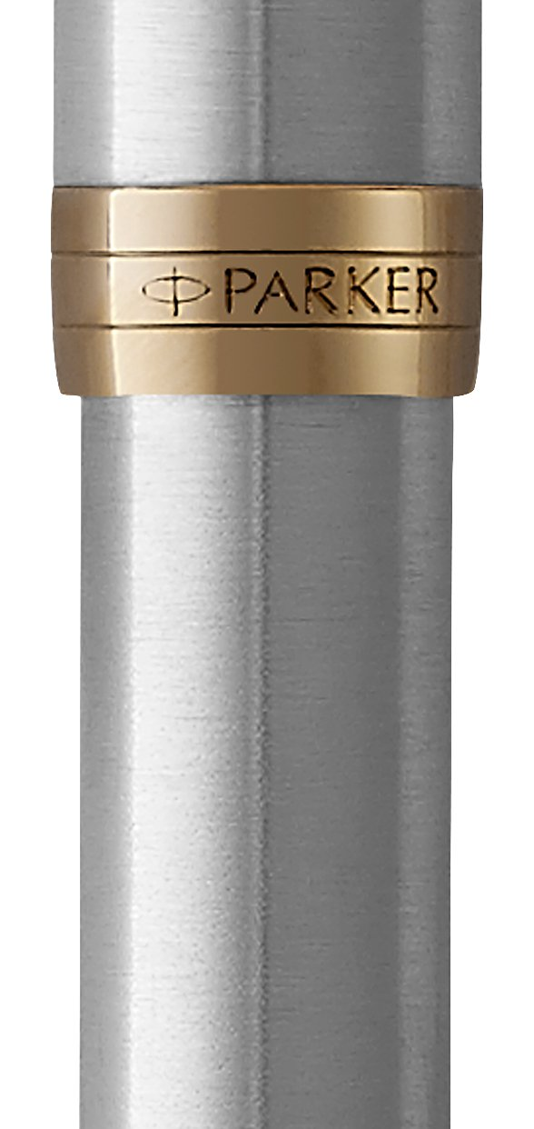 PARKER Sonnet Fountain Pen, Stainless Steel with Gold Trim, Medium Nib (1931505) by Parker (Image #2)