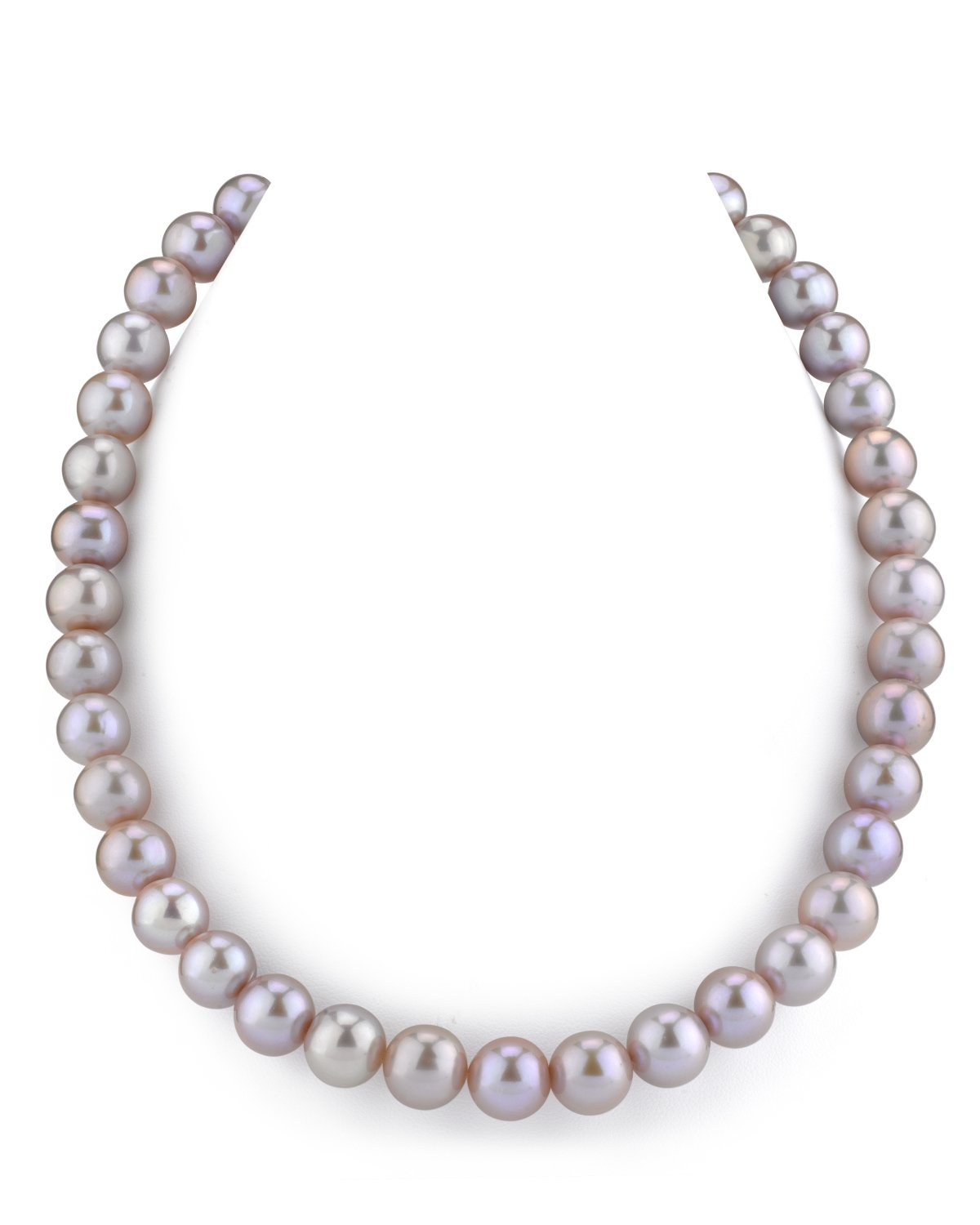THE PEARL SOURCE 14K Gold 10-11mm AAA Quality Pink Freshwater Cultured Pearl Necklace for Women in 17'' Princess Length by The Pearl Source