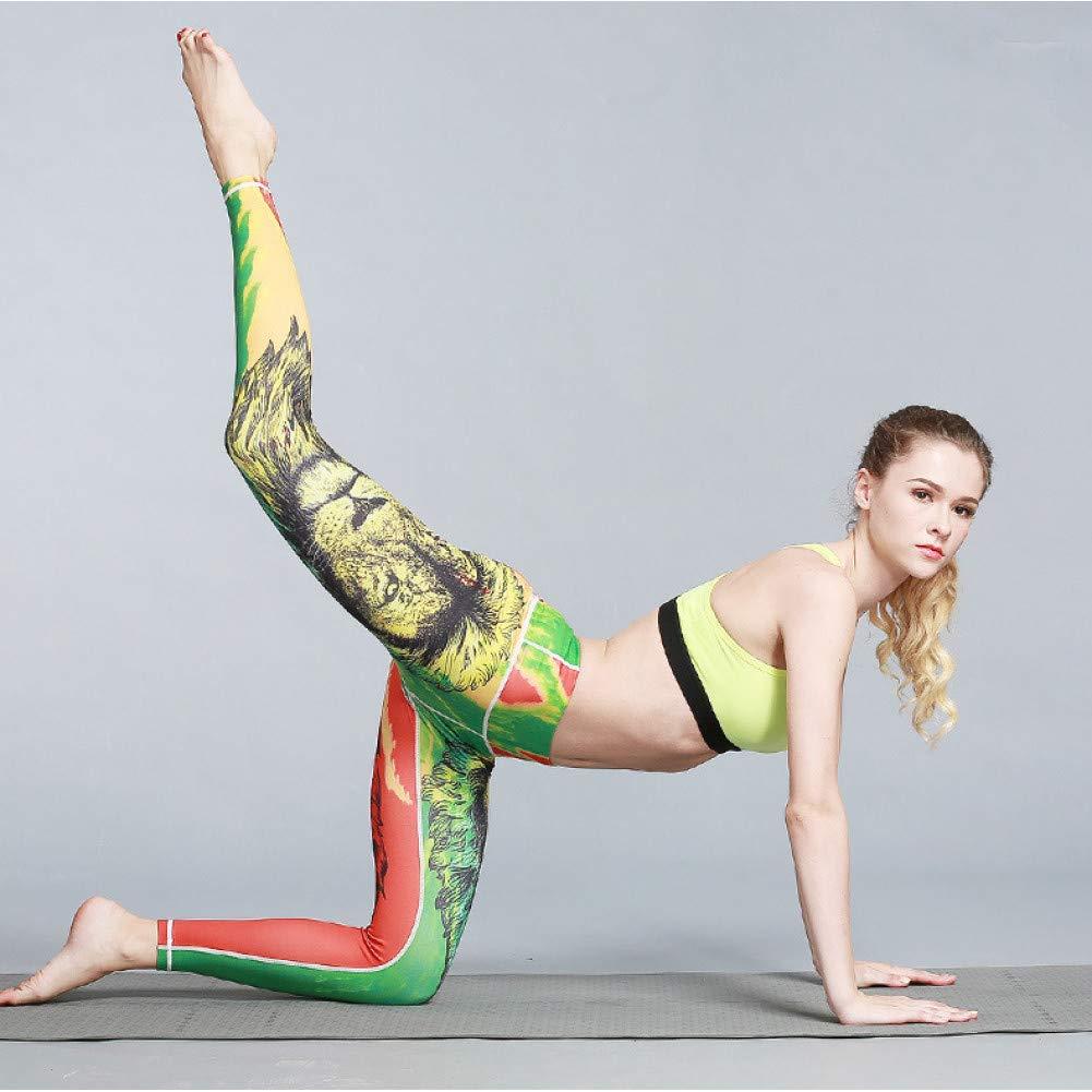 YUYOGAP Frauen Yoga Hosen Gedruckt Workout Sport Leggings Stretchy Fitness Trainingshose Laufen Sport Kleidung Trainning Anzug
