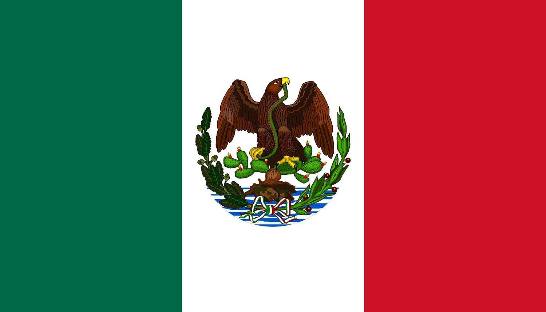 magFlags Bandera Large con el Escudo Nacional Mexicano Usado Entre 1880 Durante el Gobierno de Porfirio Díaz | Bandera Paisaje | 1.35m² | 90x150cm: Amazon.es: Jardín