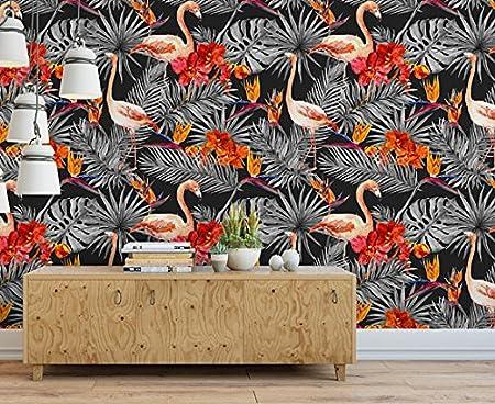 Wallpaper Wall Murals 51 18 X 108 26 Inches Black Flamingo