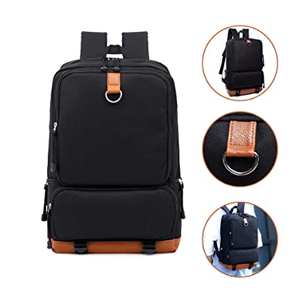 a69e2cc57a76 Light Weight Laptop Backpack for Women Men, Large Capacity Daypack for  College School Travel Fits 16 Inch Laptop & Notebook (Black)