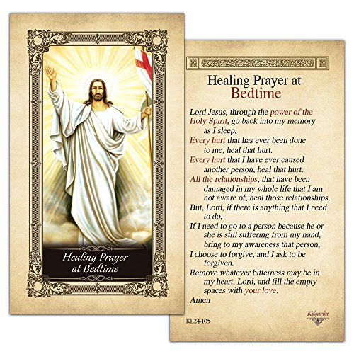 Healing Prayer at Bedtime Laminated Holy Card - Pack of 3