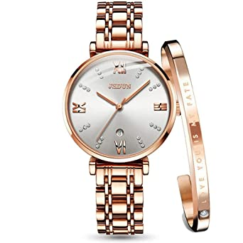 7a9c750f615c Watches for Women on Sale Rose Gold Watch Sets with Bracelets Stainless  Steel Band Water Resistant