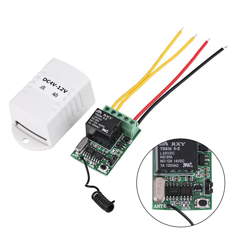 Trasmettitore 4 V 5 V 6 V 7.4 V 9 V 12 V per Computer Auto Porta Finestra Sollevamento Attrezzature Ingresso Accesso DC Wireless Relay Telecomando One Key Switch Ricevitore