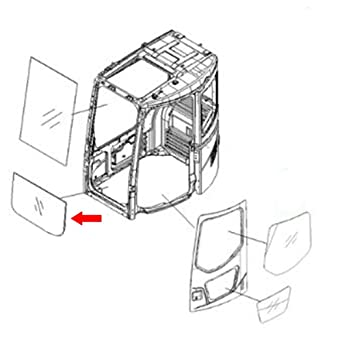 Amazon com: 22B-54-15811 Front Lower Glass Made For Komatsu