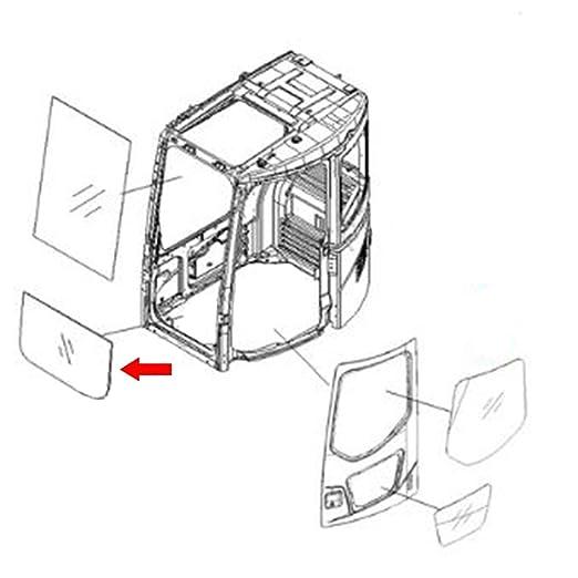 Amazon Com 22b 54 15811 Front Lower Glass Made For Komatsu