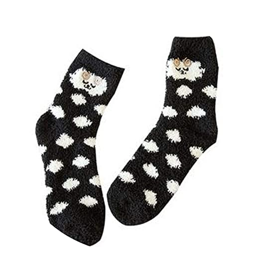 Calcetines de Cute Animal Fuzzy Cozy,A,China