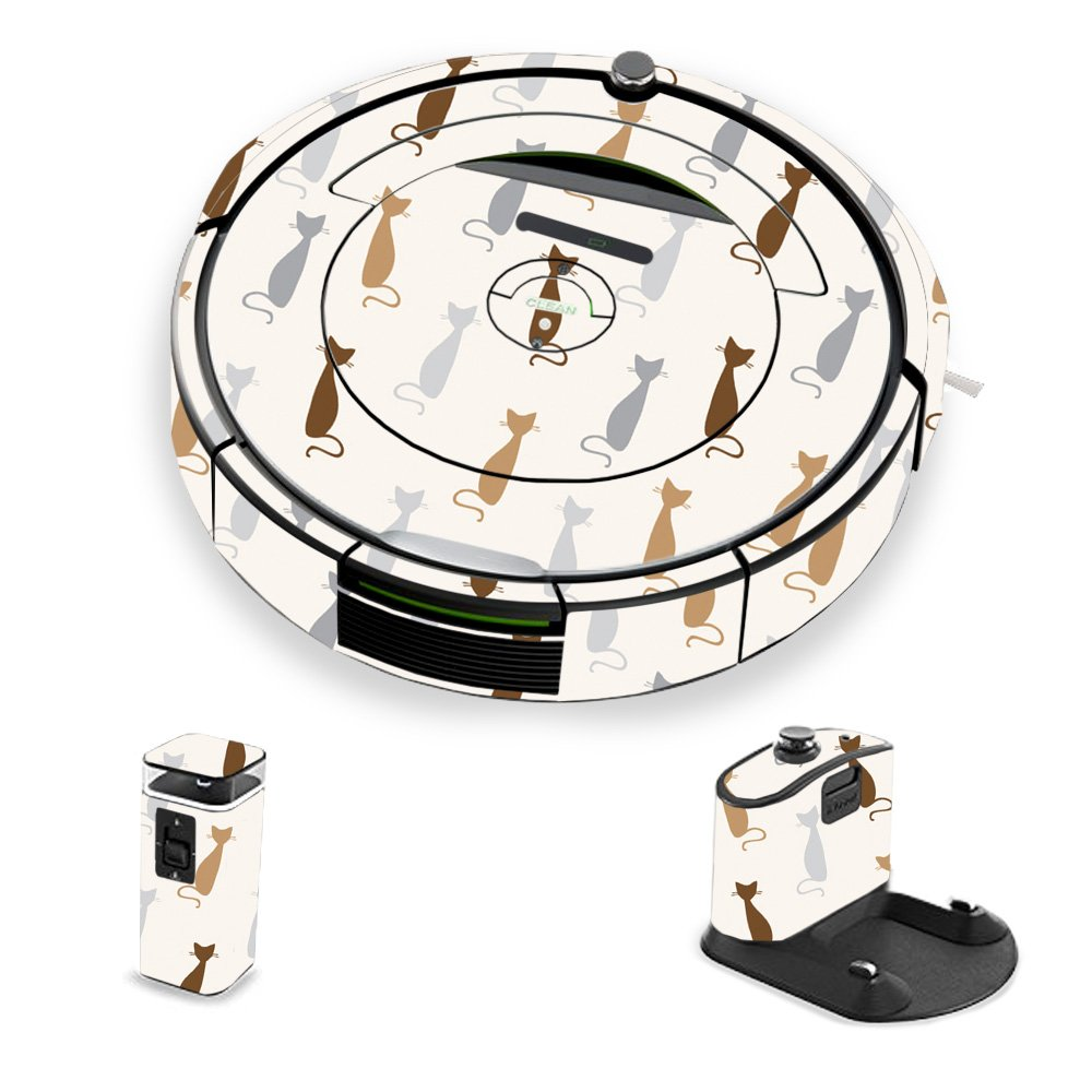 MightySkins Skin for iRobot Roomba 690 Robot Vacuum - Cat Lady | Protective, Durable, and Unique Vinyl Decal wrap Cover | Easy to Apply, Remove, and Change Styles | Made in The USA