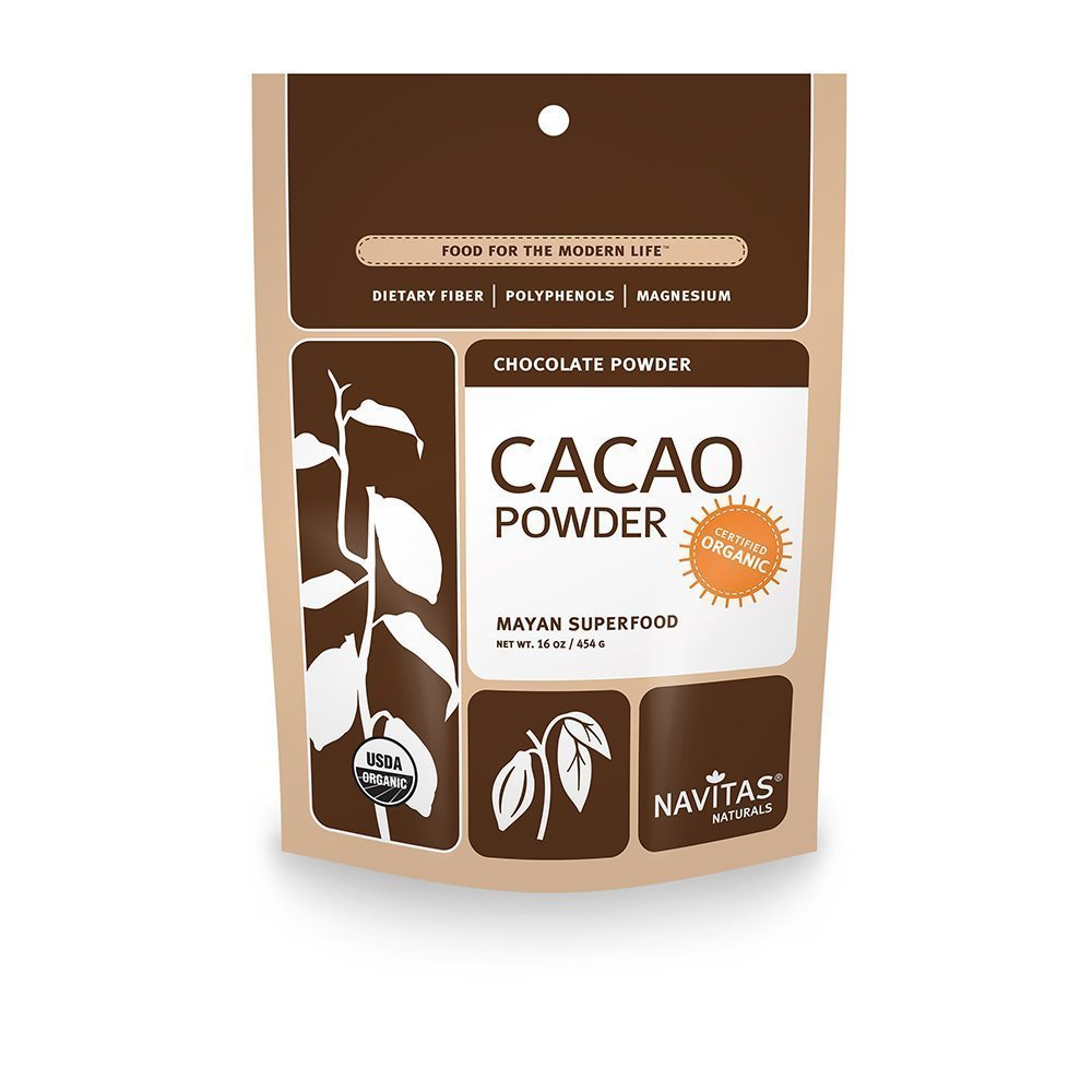 Navitas Naturals Organic Cacao Powder, 16-oz. Pouches (Pack of 4)