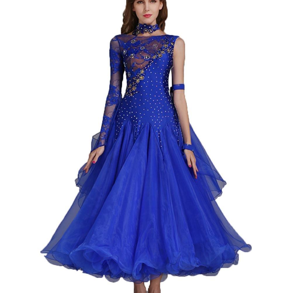 MoLiYanZi Mädchen Walzer Tanzen Outfit Outfit Outfit Wettbewerb Kleider Schnüren Performance Kostüm Frauen Moderne Tanzabnutzung B079FYYMDZ Bekleidung eine breite Palette von Produkten 64506c