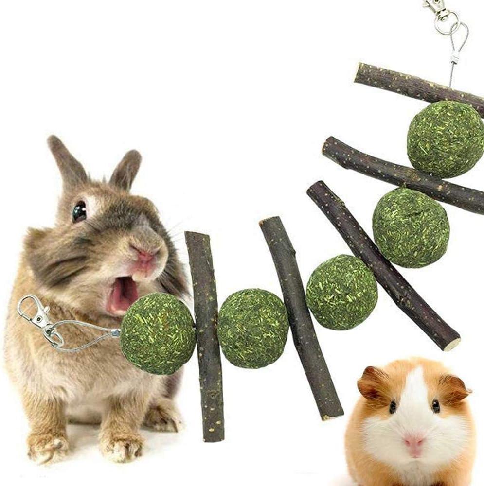 Apple Sticks Giochi Criceto,2pcs Fieno per Conigli,Giocattolo da Masticare per Abrasiviper Coniglio,Giocattolo Naturale per Denti Abrasivi,da Appendere nella Gabbia dei Roditori,Criceto//Coniglio