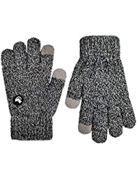 Mix Knit Touchscreen Gloves,Kids Texting Winter Cold Weather Gloves for Boys&Girls