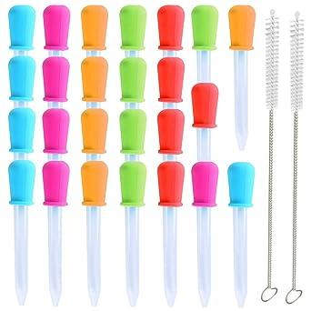 Pipetas de goteo líquido, 25 cuentagotas de plástico de silicona para medicina, pipetas de