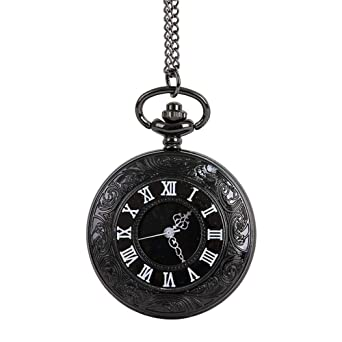 aloiness Reloj de BolsilloHueco Doble Escala Romana ...