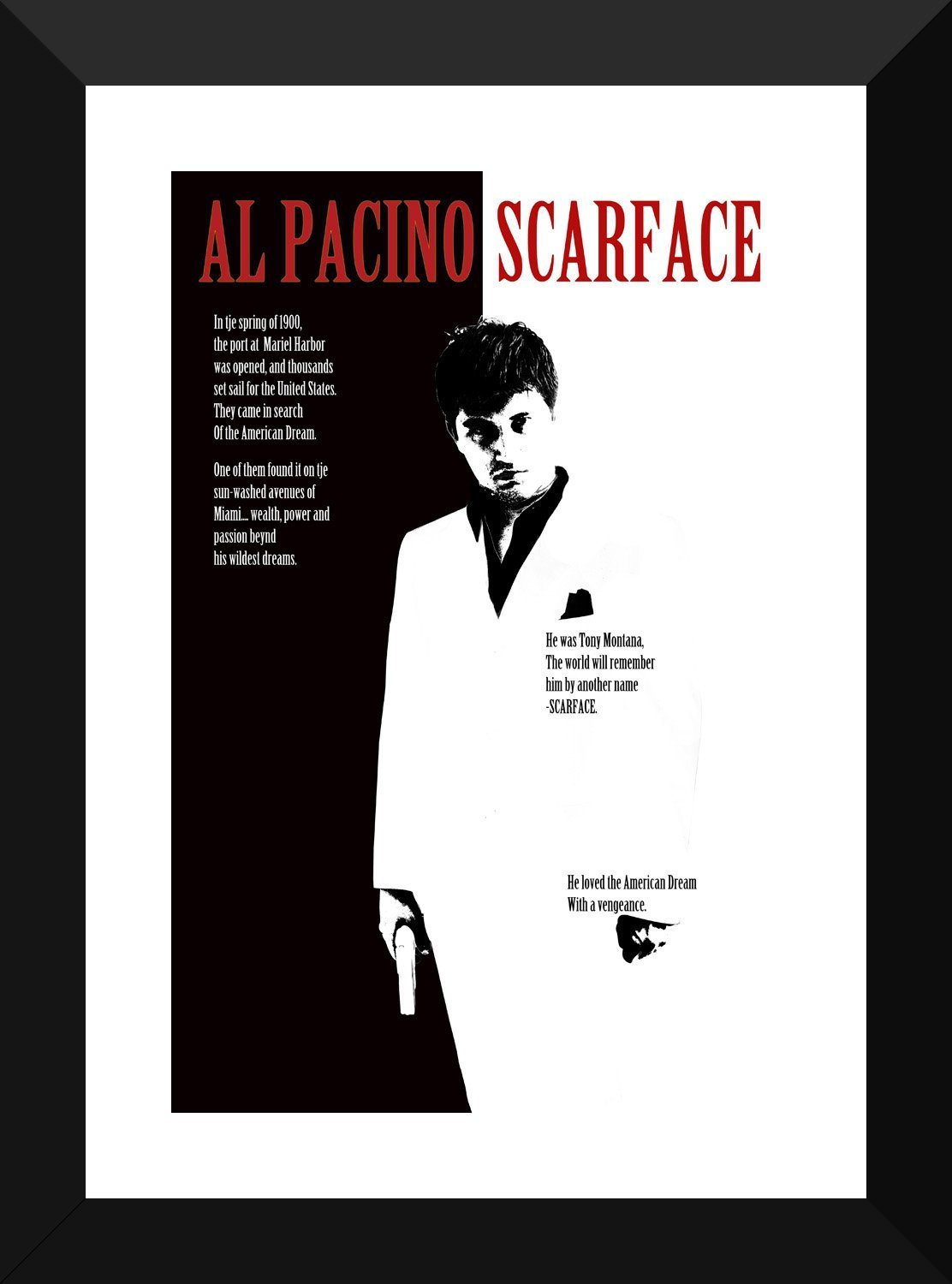 Poster Scarface-Film-Legend-cinema on Photo Paper//Canvas Canvas