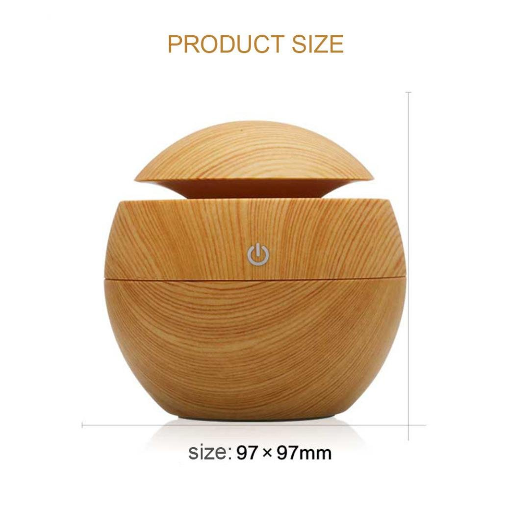 Mini Humidifier,Air Purifiers,USB Wood Grain Aromatherapy Humidifier Office Desktop Mini Perfume Machine Ultrasonic Humidifier Brown (Brown) by Appoi (Image #2)