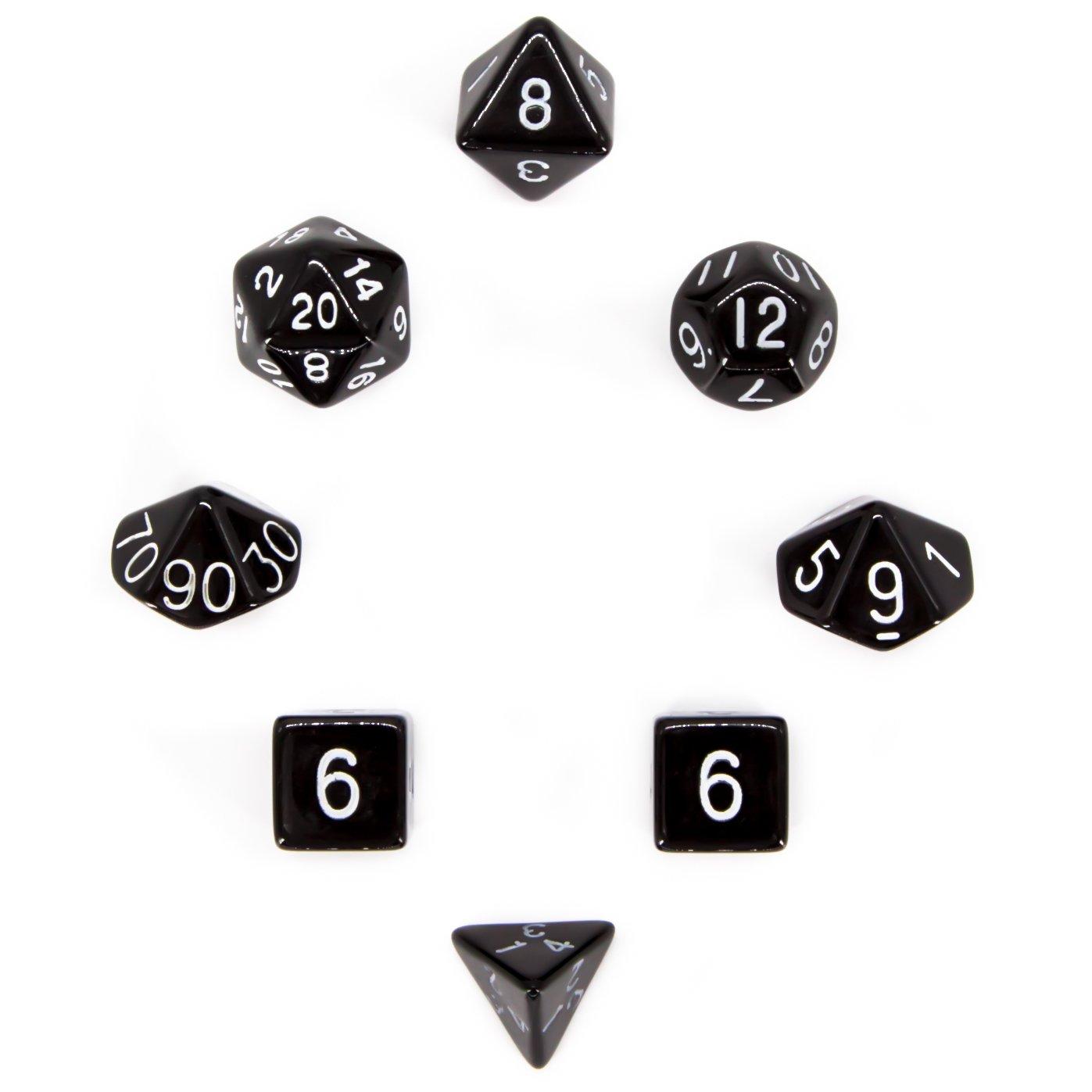 【予約中!】 7 + 1 , Polyhedral Dice Dices Set – – ブラック – 不透明 – For RPG、Roleplayingゲーム – d4 , d6 , d10 d8 d12、d20 Sided Dices withベルベットバッグ – by Aras。ゲーム B01N6FUSD5, お祝い内祝引出物専門店 カシタニ:6b82e5e8 --- arianechie.dominiotemporario.com
