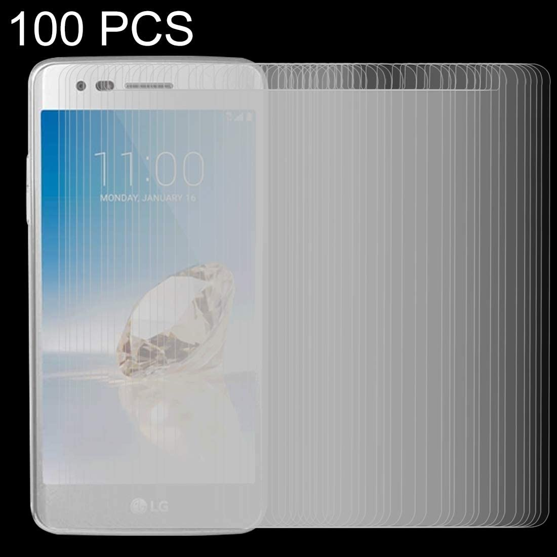 ZYS Screen Protector 100 PCS for LG Aristo 2 0.26mm 9H Surface Hardness 2.5D Explosion-Proof Tempered Glass Screen Film