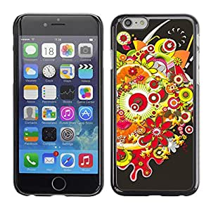 Hot Style Cell Phone PC Hard Case Cover // M00000272 Abstract Colourful Painting Pattern // Apple iPhone 6 4.7