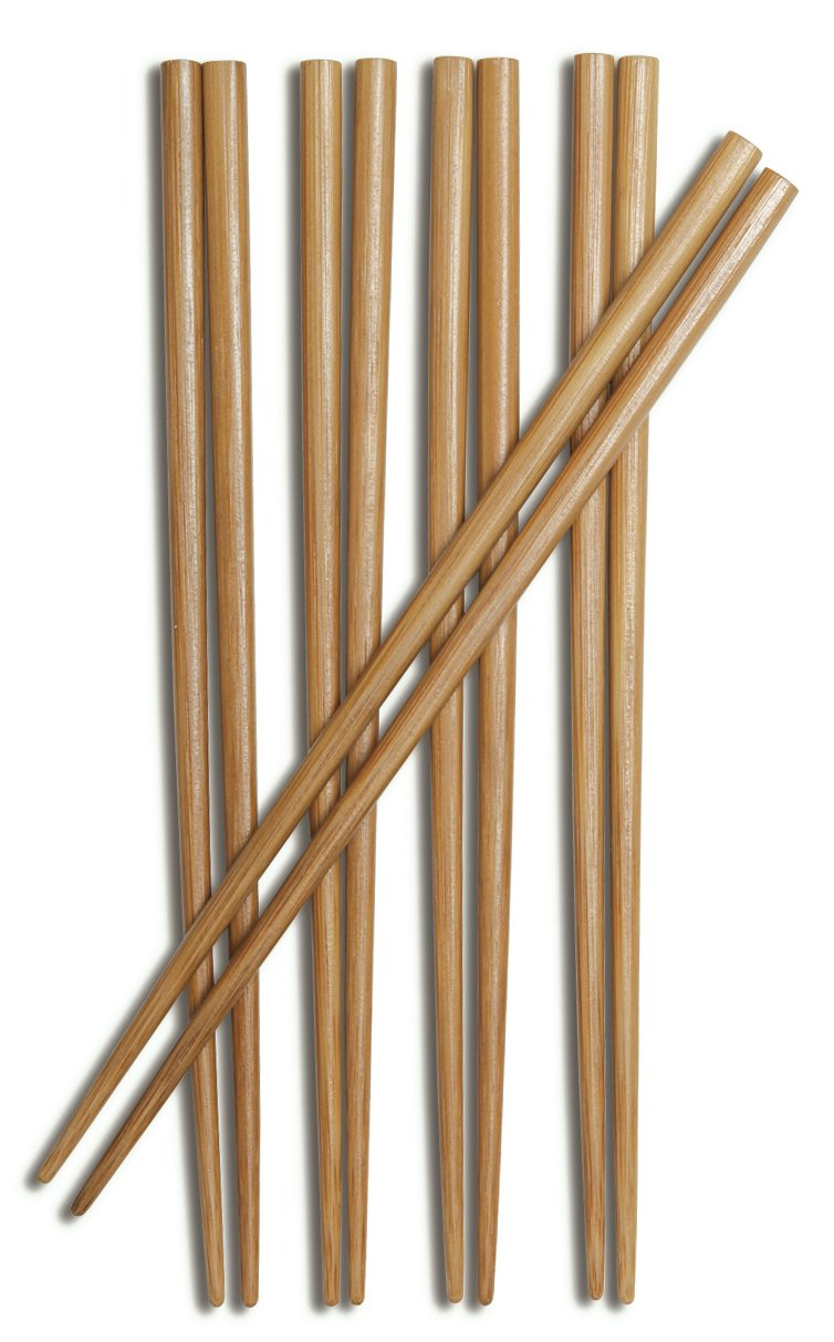 Joyce Chen 30-0041 9-Inch 5-Pair Bamboo Chopsticks, Burnished/Honey